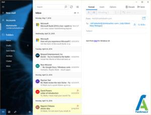 1 راه اندازی دستی گروه ها در اپلیکیشن Mail ویندوز 10