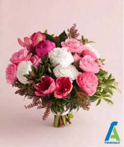 1 گلهای مناسب دسته گل صورتی