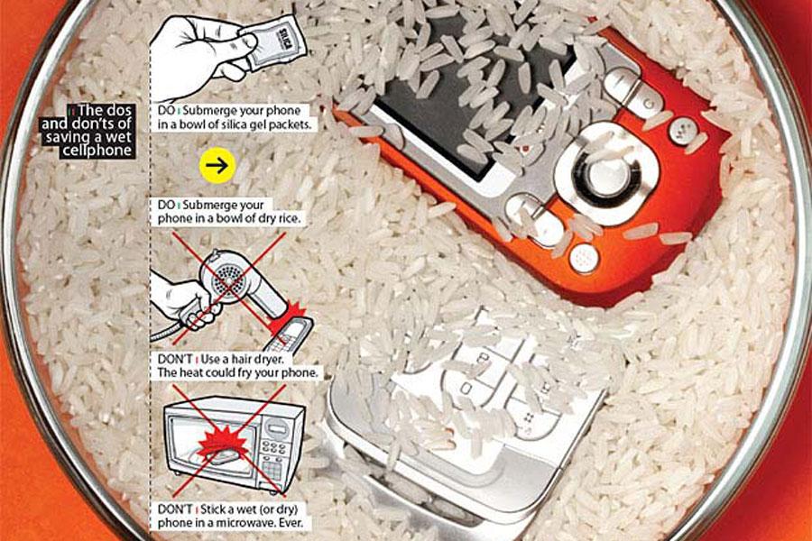 1 نجات موبایل خیس شده