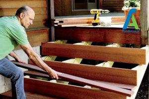 1 ساخت پله چوبی در سه مرحله
