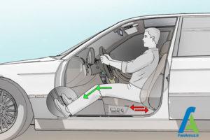 1 تنظیم صحیح صندلی ماشین