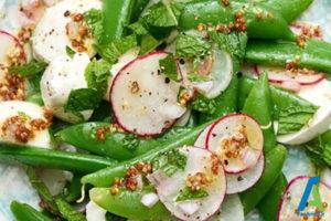 1 خوراک سبزیجات با جوجه کباب