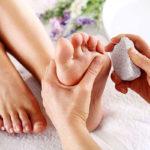 1 تمیز کردن سنگ پا