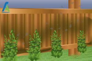 1 از بین بردن قارچ و کپک حصار چوبی