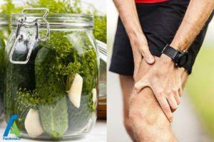 1 تاثیر آب خیارشور بر گرفتگی عضلات