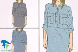 1 ست کردن مانتو و سارافون جین با انواع لباس