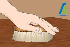 6 رفع لکه و مراقبت از وسایل چوبی