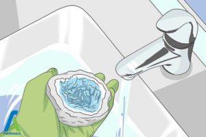 9 تمیز و براق کردن سنگ ژئود