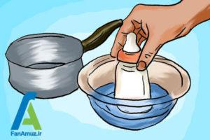 8 نحوه گرم کردن شیر مادر