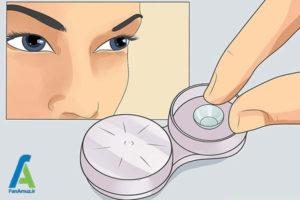 4 نحوه استفاده از لنز تماسی چشم