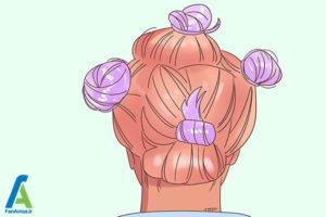 6 دکلره کردن موهای قهوه ای