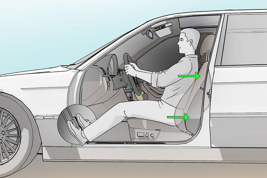 11 تنظیم صحیح صندلی ماشین