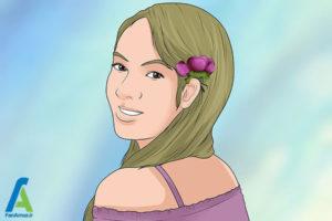 11 شینیون مو با گل طبیعی