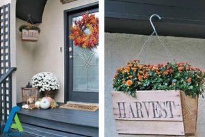 11 طراحی و تزئین ورودی منزل به سبک پاییزی