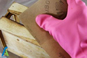 6 پاک کردن لکه چوب