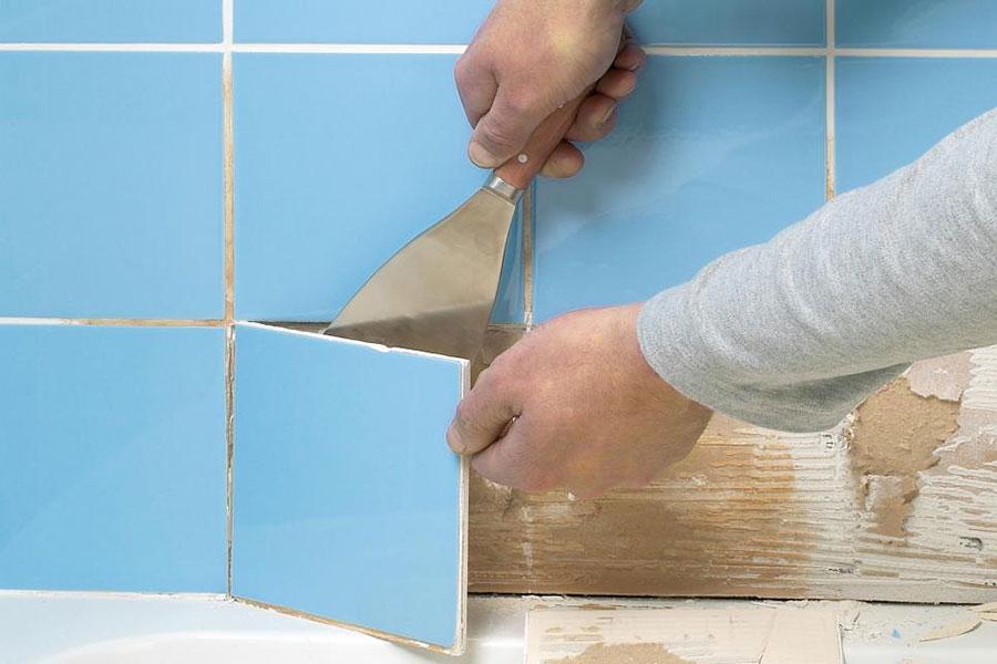 7 نحوه جدا کردن کاشی از دیوار