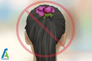 12 شینیون مو با گل طبیعی