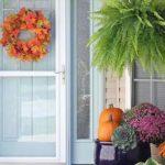 12 طراحی و تزئین ورودی منزل به سبک پاییزی