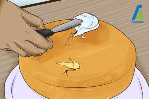 13 جدا کردن کیک سوخته از قالب