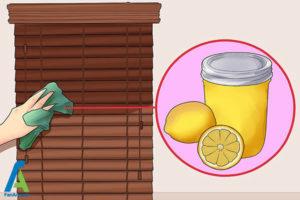 8 تمیز کردن پرده کرکره چوبی