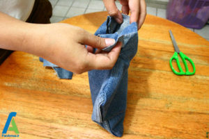 13 درست کردن بالش با لباس های کهنه