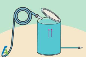 13 شستشوی منبع پلاستیکی آب