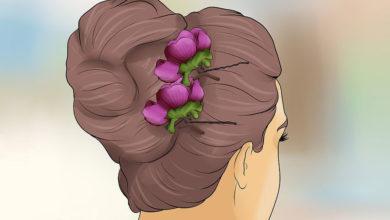 Photo of چگونگی استفاده از گل طبیعی برای شینیون، آرایش و تزئین مو