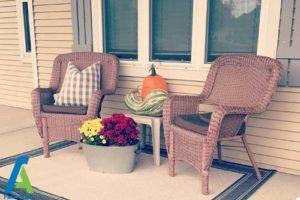 14 طراحی و تزئین ورودی منزل به سبک پاییزی
