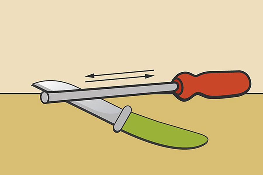 8 روش استفاده از چاقو تیزکن استوانه ای