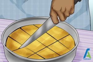 15 جدا کردن کیک سوخته از قالب