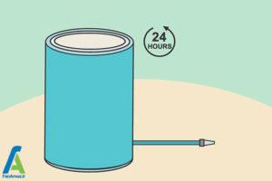 14 شستشوی منبع پلاستیکی آب