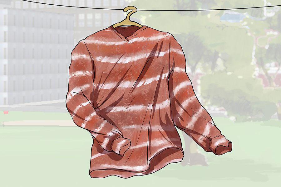 10 رنگ کردن لباس با زنگ آهن