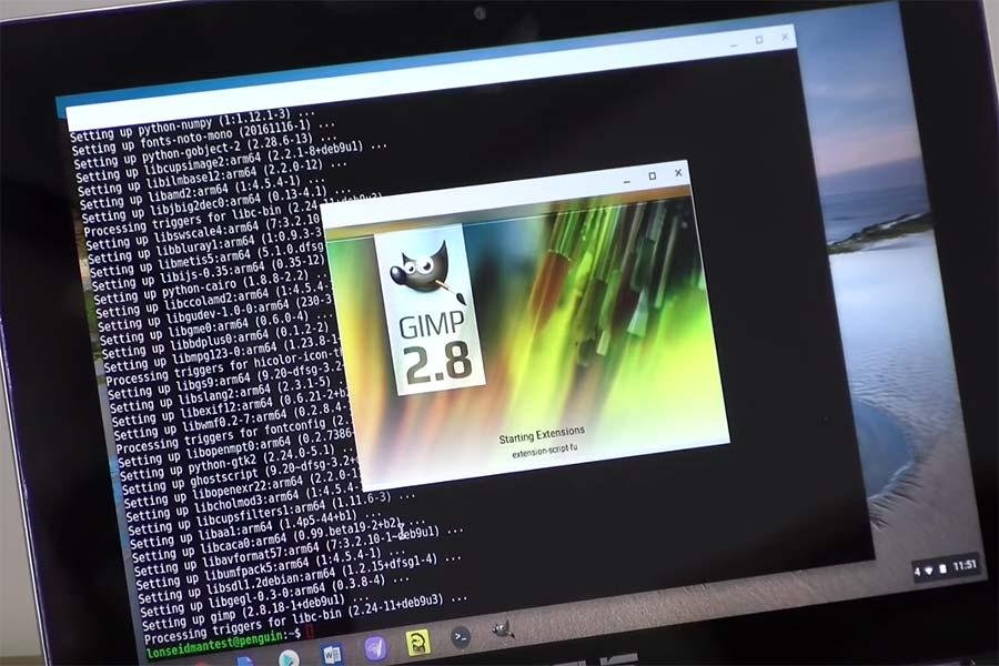 16 استفاده از اپلیکیشن لینوکس در کروم بوک