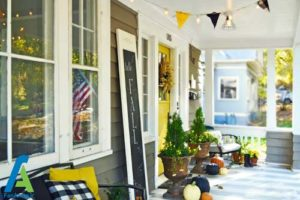 16 طراحی و تزئین ورودی منزل به سبک پاییزی