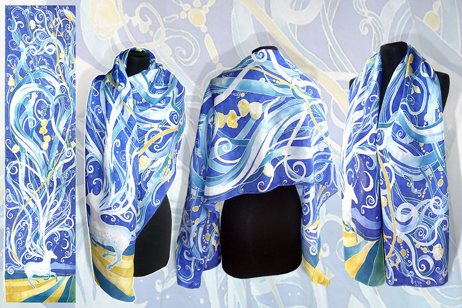 13 نقاشی روسری ابریشمی