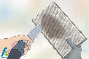 2 تمیز کردن یا تعویض فیلتر هوا