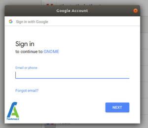 2 اتصال به اکانت گوگل در Ubuntu 18.04