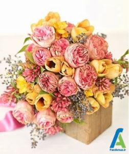 2 گلهای مناسب دسته گل صورتی