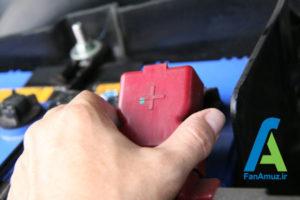 1 پاک کردن رسوبات سر باتری خودرو