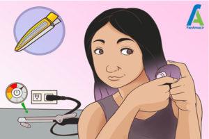 2 فر کردن موهای مصنوعی