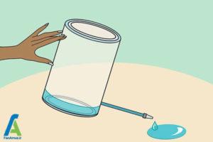 2 شستشوی منبع پلاستیکی آب