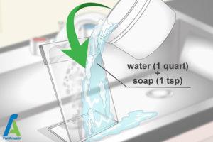 2 اصول پاک کردن سطح پلی متیل متاکریلات