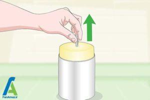 2 جدا کردن شمع از جاشمعی