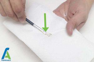 2 برطرف کردن خشکی قلمو رنگ
