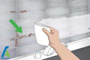 2 تمیز کردن کاشی فلزی و استیل
