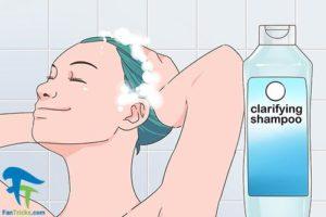 2 پاک کردن رنگ موی فانتزی بدون دکلره