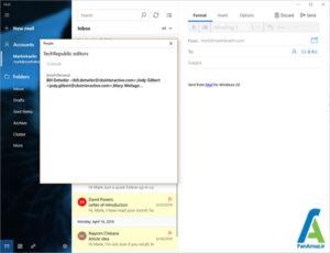 3 راه اندازی دستی گروه ها در اپلیکیشن Mail ویندوز 10