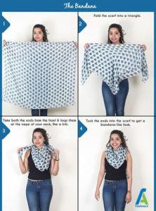 2 آموزش بستن دستمال گردنی