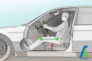 3 تنظیم صحیح صندلی ماشین