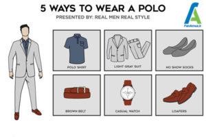 4 ست پولوشرت با انواع لباس و کفش